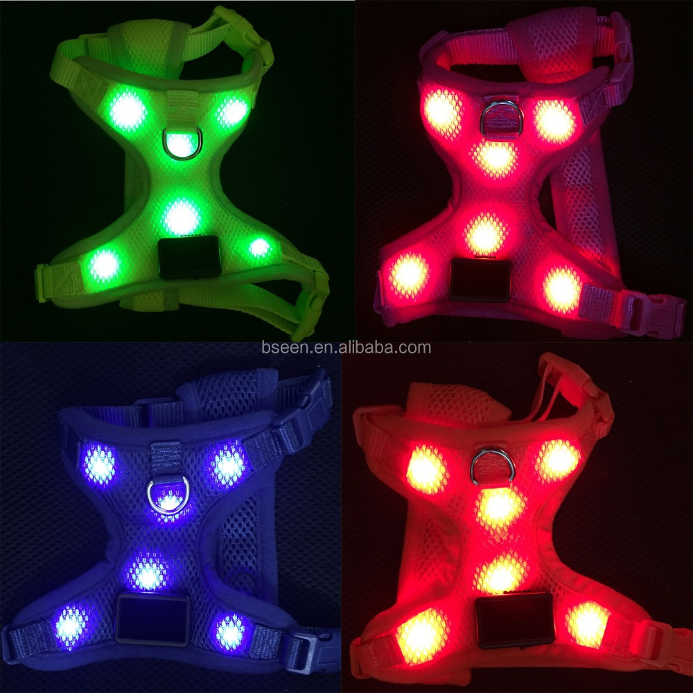 top hot selling dog products 2016 led service dog vest harness