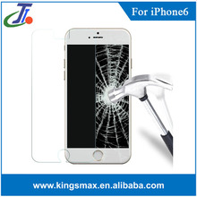 For iPhone6 tempered glass screen protector Curved design with Plastic package