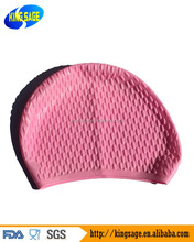 Waterproof Silicone Cozy Bubble Swimming Cap Protect Ears Long Hair Sports Cap Swim Pool Swimming Cap Hat for Adult