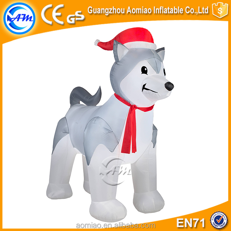 husky dog christmas inflatable giant inflatable husky for sale giant inflatable dog