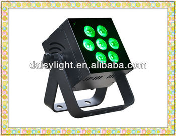 Patented Flat Shape PAR RGBAW 5-IN-1 LED 10w*7pcs Indoor DJ Control Light