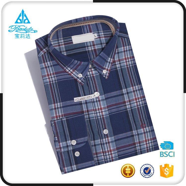 Oxford check gentleman plaid different types dress shirts men