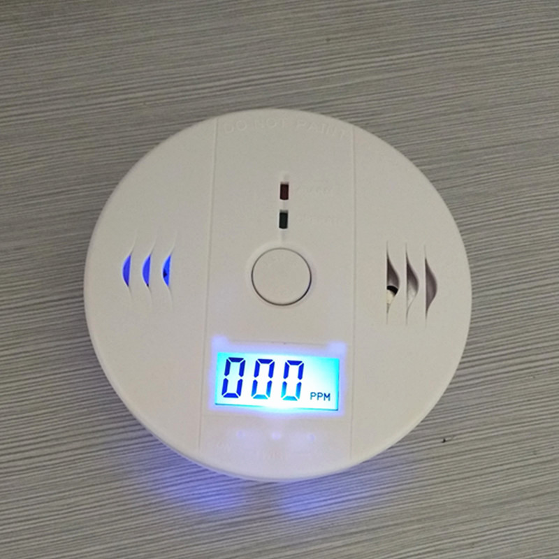 Household carbon monoxide CO detector gas leak alarm smart smoke alarm sensor with LCD display