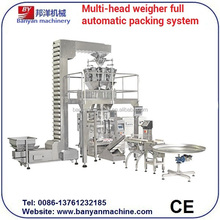 Shanghai manufacturers Automatic Chips and Snacks Packing Machine with Combination Multi-head Weigher 0086-18516303933