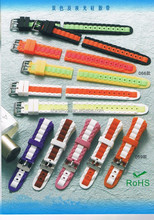 24mm curve head multi-color silicone rubber watch band wholesale