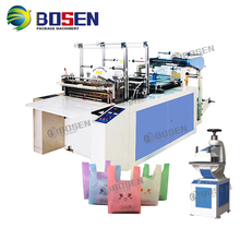 Cheap High Speed T-shirt Vest HDPE film Hot Cut Bag Making Machine