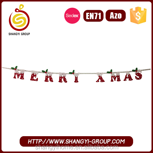Lovely customized hanging garland chrismas cheap home decoration items