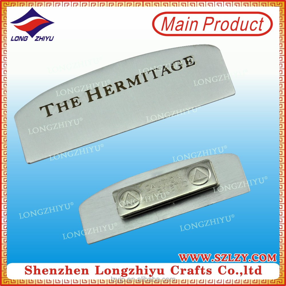 Top Quality Aluminum Name Badges Magnetic Name Badge