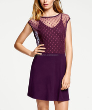 CHEFON Dotted orchid mesh different types of dresses ladies