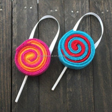 Hot new products alibaba china fabric bulk handmade felt diy custom lollipop hanging merry christmas and happy new year message
