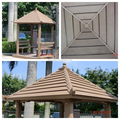 Wood-plastic Composite WPC Gazebo with bench and decking