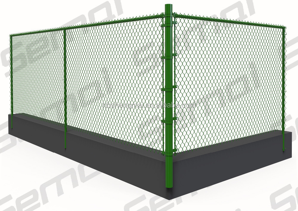 Hot selling popular pvc chain link fence , cheap pvc fence