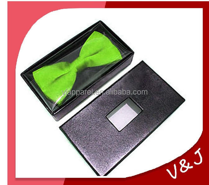 Black vellum bow ties packing boxes with pvc window