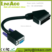 ACCVGA020 High Quality Scart 20 pin to VGA 15P Female converter Cable