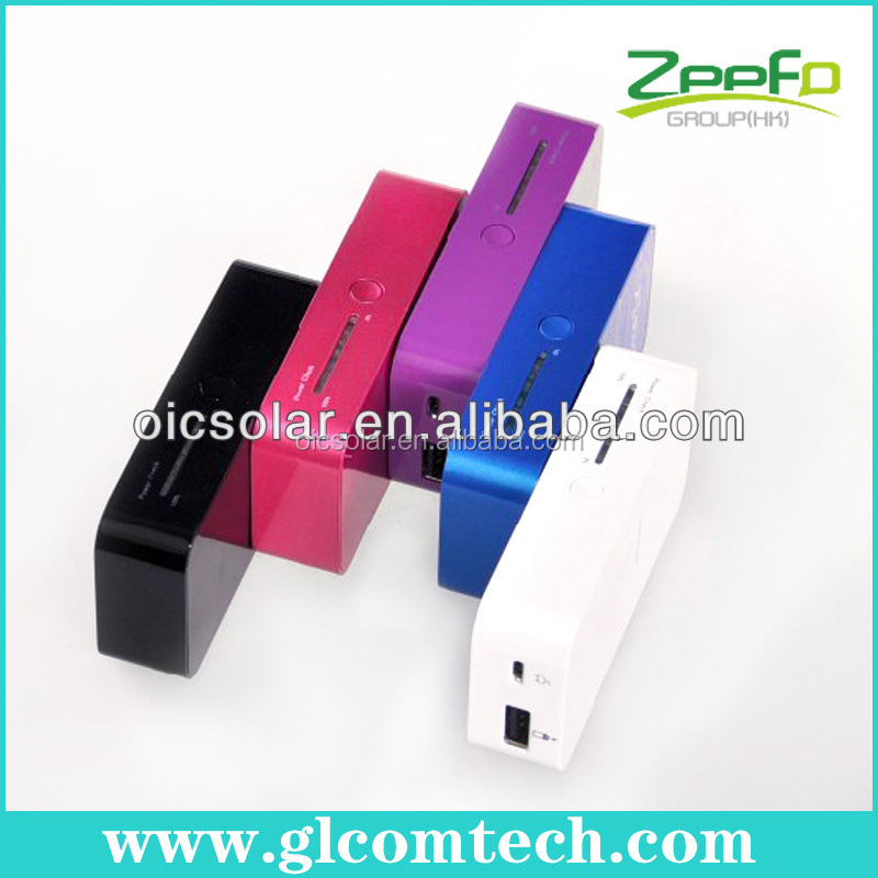 China factory CE,FCC,RoHS 5200mAh Lithium-polymer rechargeable universal portable mobile battery charger