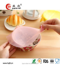 High quality cute easy cleaning round shape silicone plastic wrap