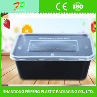 disposable plastic packaging bento box with clear lid