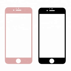 For Iphone 7/8 2.5D Arc Edge Full-Screen HD Silk Screen Front Screen Protector Glass Film With Color Carton