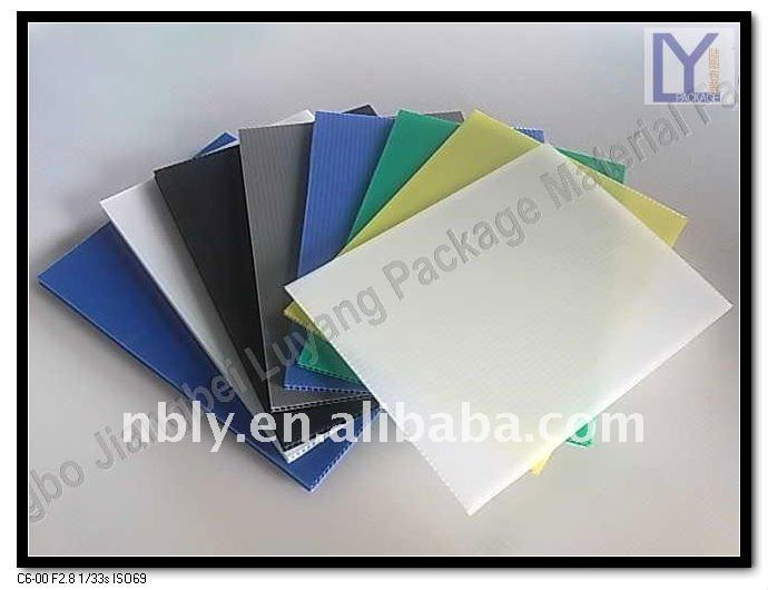 extruded polypropylene pp fluted sheet/board