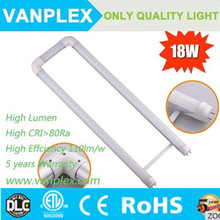 Hot sale T8 G13 base 2700k-6500k 2ft U bend shape led tube 18W U tube light