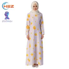 Zakiyyah 1045 New Arrival Maxi Dress Retro Dress in Flower Patterns Ready Made Long Sleeve Girl Dress