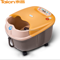 vibrating bubbling foot bath spa massager tc-2017b