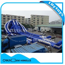 Big sale Giant hippo inflatable water slide for sale
