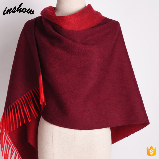 Wholesale Fringed 70% Pashmina 30% Silk Plain Lady Scarf