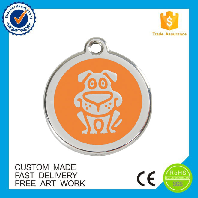 Cheap custom sublimation blank metal dog tag