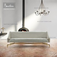 New style modern polished brass base living room furniture sofas