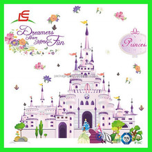 Q403 sala decoracion 3d princesas castillo wallpaper sticker