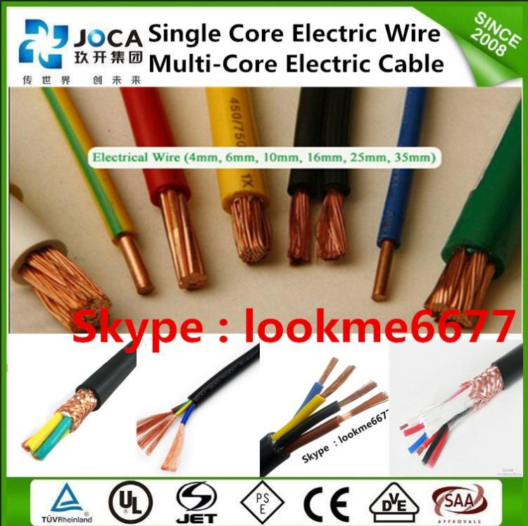 solid electric wire color code 2.5 sq mm cable