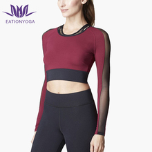 Compression Crop Tops Long Sleeve Shirts Women