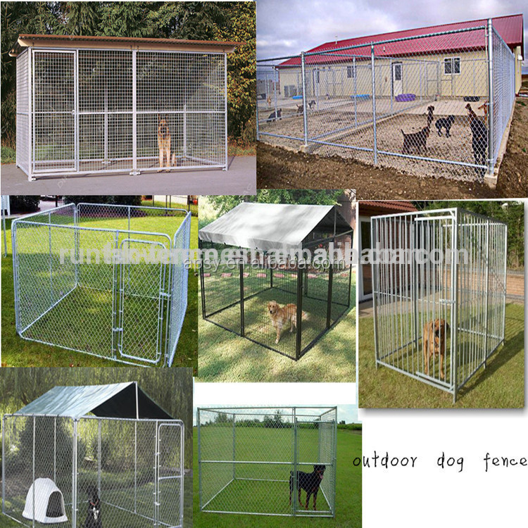 4.0 x2.3 x 1.8m Rectangular Model Pet Dog Enclosure Run Kennel Chain Link Fence FULL Enclosed Roof