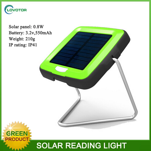 IP 41 energy saving rechargeable solar LED desk lamp with solar panel