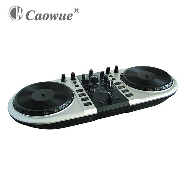 Low price professional DJ midi controller with large jog wheels