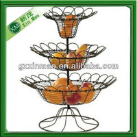 Three tiers Wire fruit baskets wholesale
