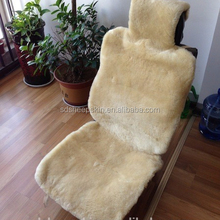 Beige Racing Sheepskin Car Seat Cover For Car
