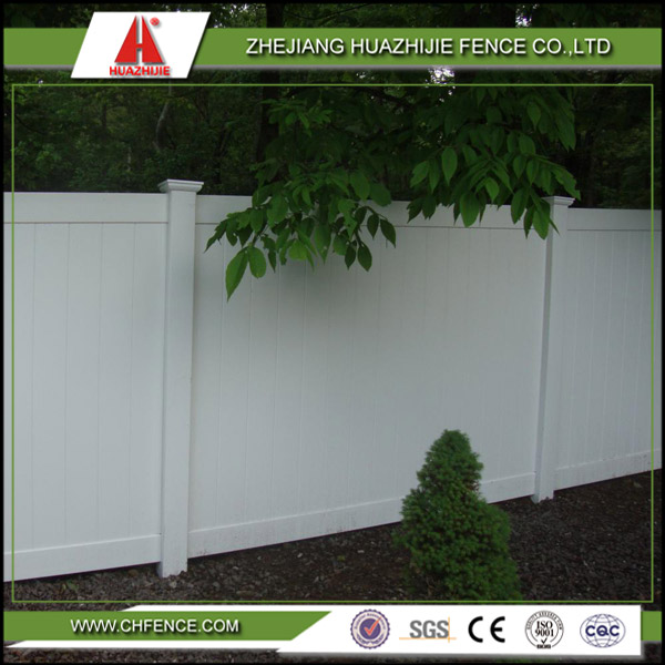 vinyl plastic white color garden fencing prices