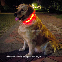 2015 With CE ROHS electronic Dog LED Collar for dog