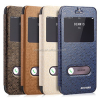 smart phone leather cover case for Apple iPhone 6 leather case with mazing veins