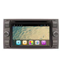 "7"" Android 6.0 Quad Core Car Video Player GPS Navigation for Focuus Galaxy S-Max Fusion Fiestta 1024*600HD Free Map"