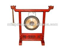 Chinese Antique Carving Brass Gong Stand