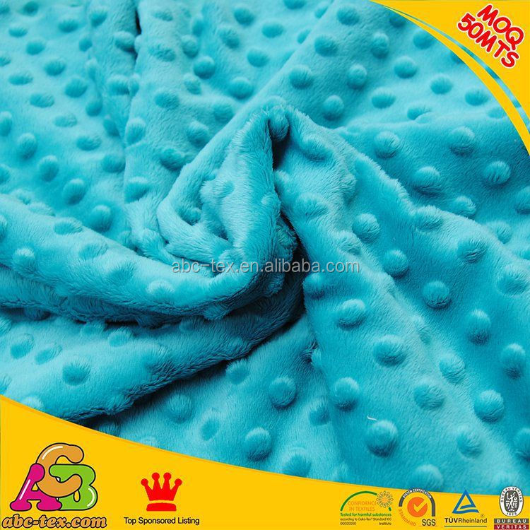 China Manufacturer Of 100% Polyester Minky Fabric