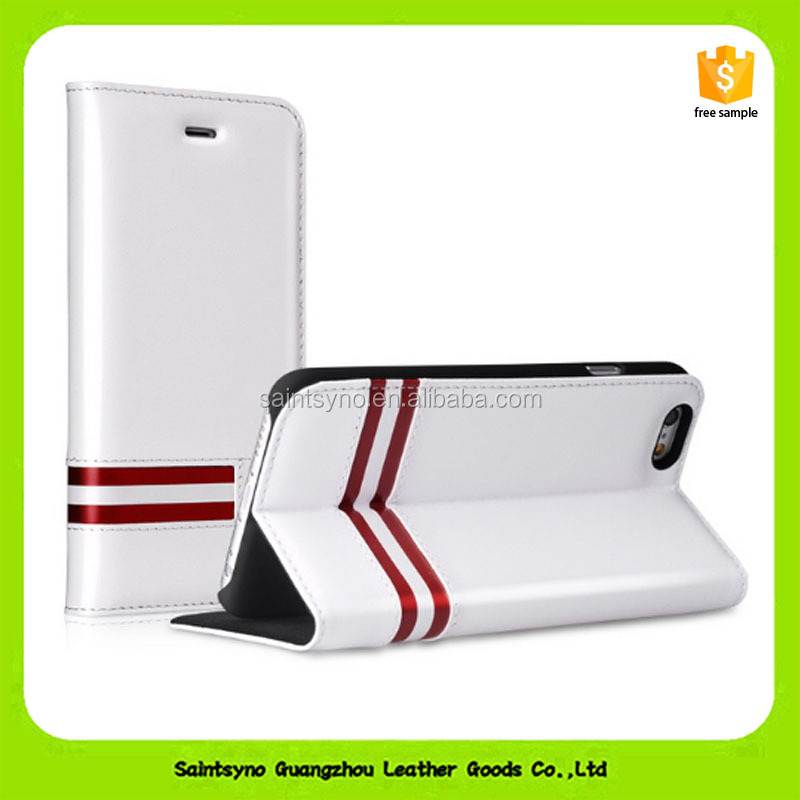 Hot-selling protector flip pu leather cell phone case 16142