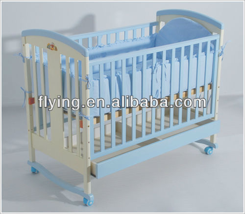 baby crib, 3 in 1 wood baby cot, baby cradle with drawer