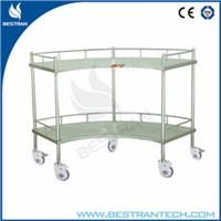 China BT-SIT001 hospital stainless steel fan shaped operation apparatus table, instrument trolley, clinic surgical cart