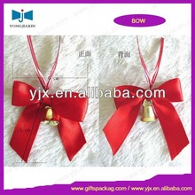 Beautiful Gold Edge Red Plastic Pull String Ribbon Bow