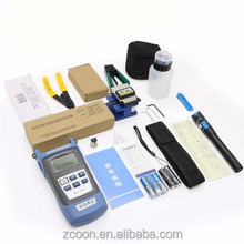 Good quality FC-6S Fiber Cleaver and Optical Power Meter 10Mw Visual Fault Locator fiber optic repair kit FTTH Tool Kit
