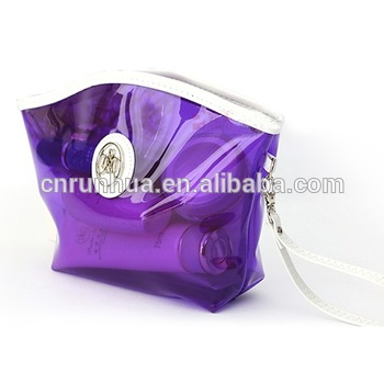 factory fabric polyester fold up promotional cosmetic bags